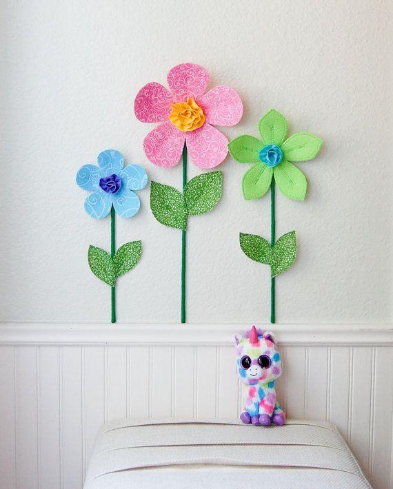 flower wall decal girls room nursery decor by leilasflowergarden $8.00 USD