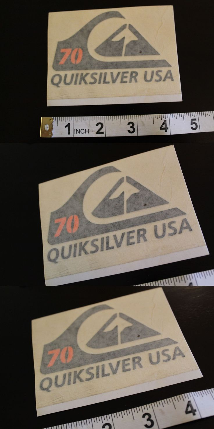 Decals Patches and Stickers 22711 Quicksilver Usa 1970