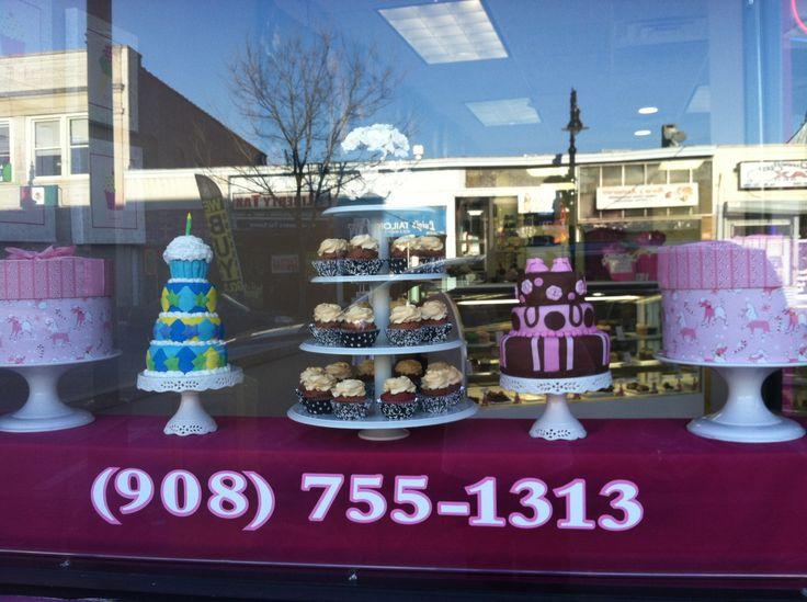LiVay Sweet Shop Cupcake Bakery Window Display