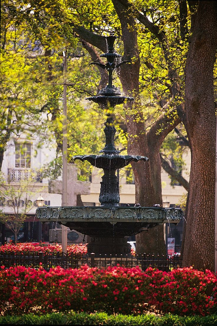 Bienville Square, a park in the heart of historic downtown Mobile, AL