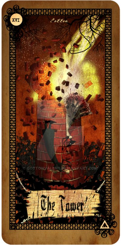 Tarot card - The Tower by CottonValent on DeviantArt