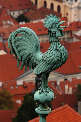 Copper rooster