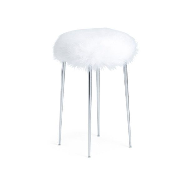 Faux Fur Cruella Vanity Stool 40 Liked On Polyvore Featuring Home Furniture Stools Faux Fur Furniture Faux Fu Clothes Design Outfit Accessories Design