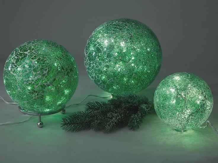 Formano Beleuchtete Kugel Mosaikkugel Lichterkette dunkel grün Mosaikglas, Größe:15cm: Amazon.de: Küche & Haushalt