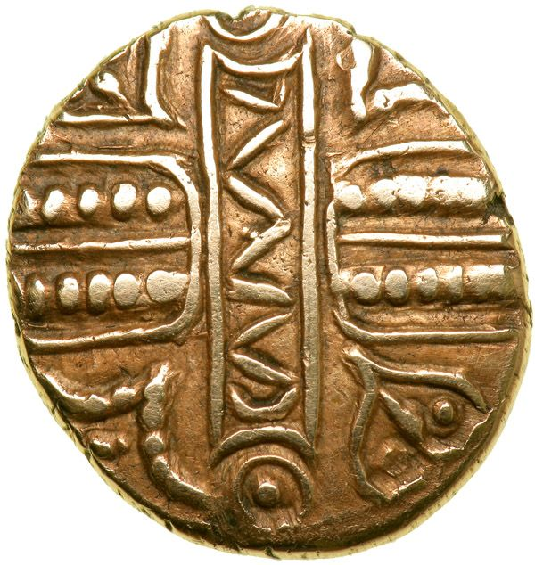 Celtic Coinage. Britain. The Catuvellauni/Trinovantes. Cunobelin. Biga type. Gold Stater (5.37 g, 18 mm). Early-mid 1st century AD. - Goldberg Coins and Collectibles