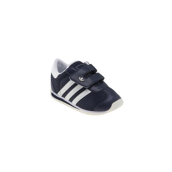 adidas 'Country' Sneaker (Baby, Walker & Toddler) (115 BRL) ❤ liked on Polyvore featuring baby shoes, baby, shoes, sneakers and toddler unisex
