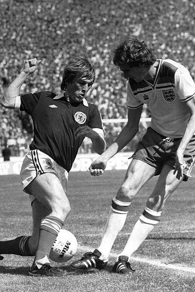 Kenny Dalglish in action for Scotland