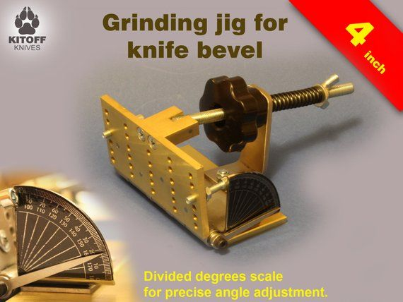 Knifemaking tool Adjustable bevel grinding jig for belt