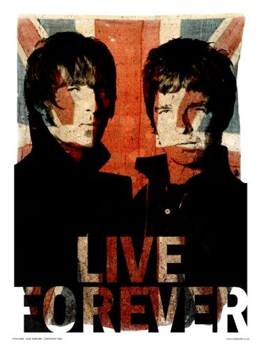Oasis Liam and Noel Live forever Art Print Poster by Wig (OTW50)