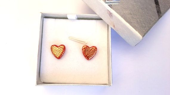 Valentine's Day Special OfferPolymer Clay Heart Stud by MACRANI