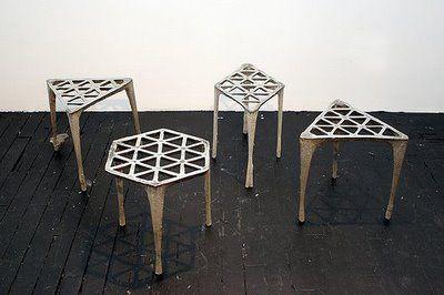 Max Lamb, 040. Hexagonal Pewter Stool