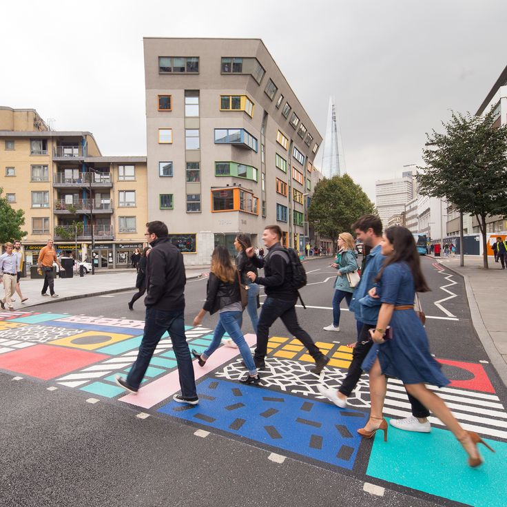 Camille Walala creates multicoloured pedestrian crossing for London street