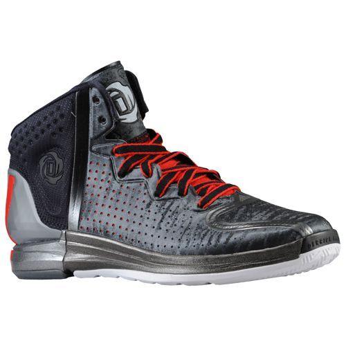 adidas Rose 4.0 - Men\u0027s - Basketball - Shoes - Black/Light Scarlet/Neo