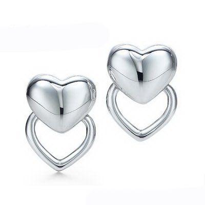 Tiffany & Co Outlet Puffed Heart Earrings