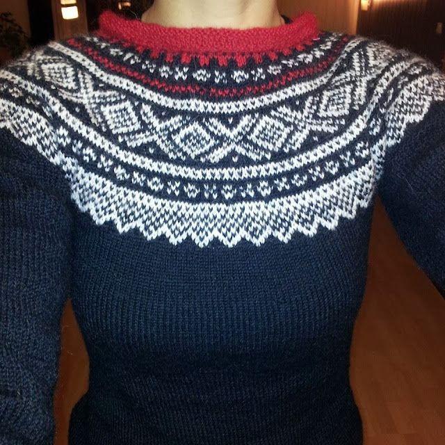 Norwegian sweater mariusgenser , red, black and white