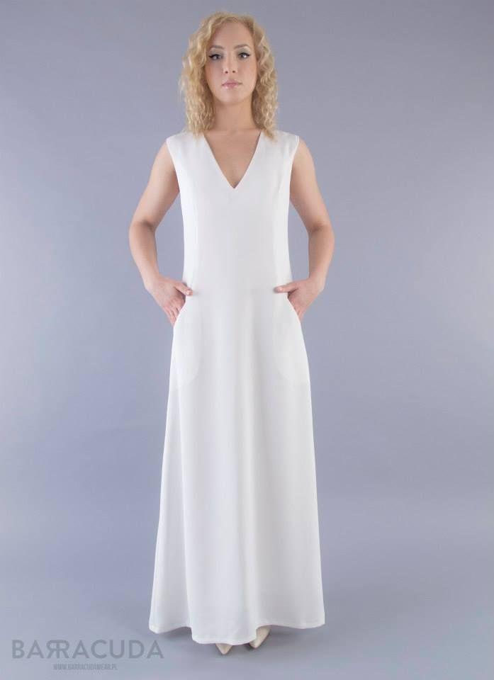Na zdjęciu: - Długa suknia z kieszeniami #barracudawear http://www.barracudawear.pl/ss14/dluga-suknia/