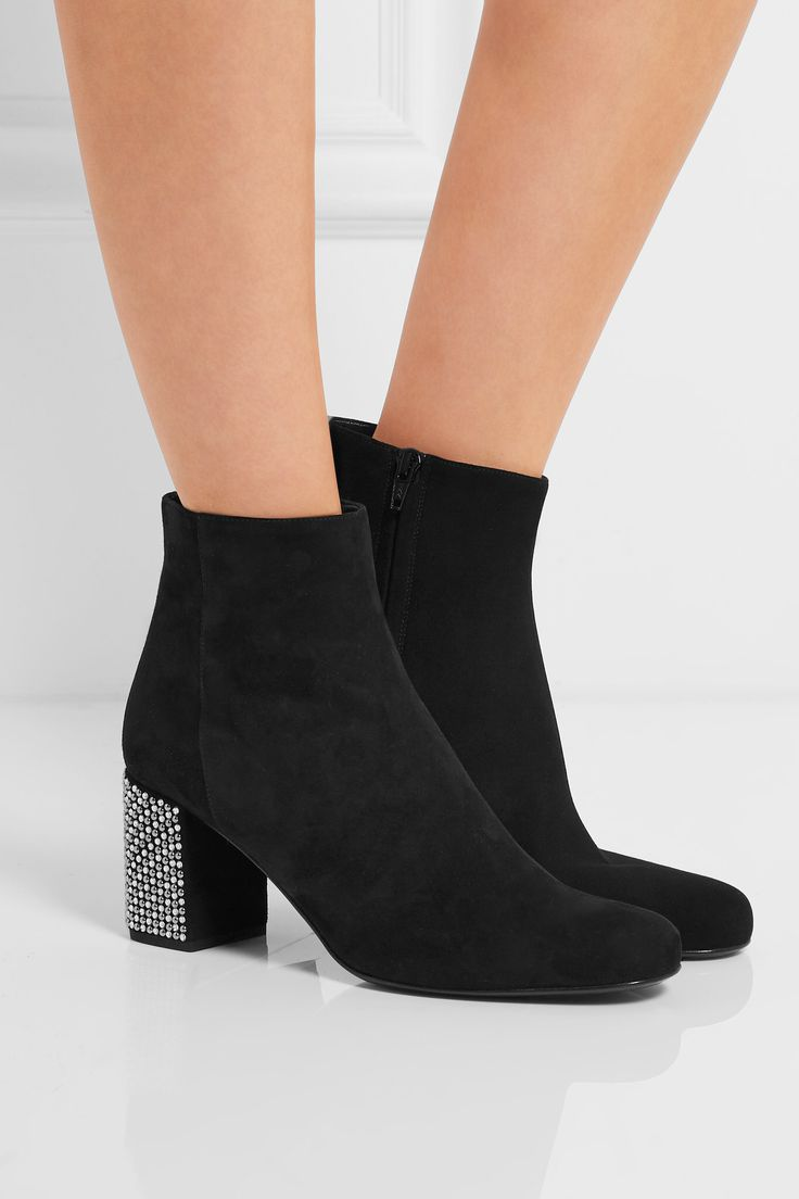 1800 Best Net A Porter Picks Images On Pinterest Heels Top Clarette Sneakers Clarissa Black Heel Measures Approximately 3 Inches Suede Zip Fastening Along Side Made In Italy Small To Size See Fit Notes