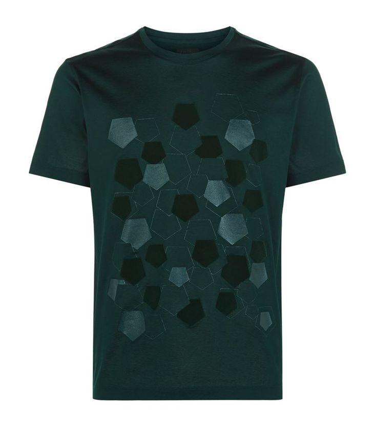 Z Zegna Scattered Pentagon T-Shirt, Green. £ 99.95 #ZZegna #mensfashion #malefashion #menswear #tshirt http://www.harrods.com/…/scatte…/z-zegna/000000000005269706…#