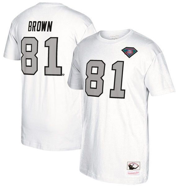 Tim Brown Oakland Raiders Mitchell & Ness Retired Player Name & Number T-Shirt - White - $54.99
