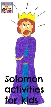 Solomon asking for wisdom activities - Adventures in Mommydom