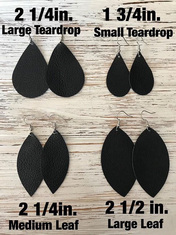 Earring Size Chart. Not for purchase. Please use as a
