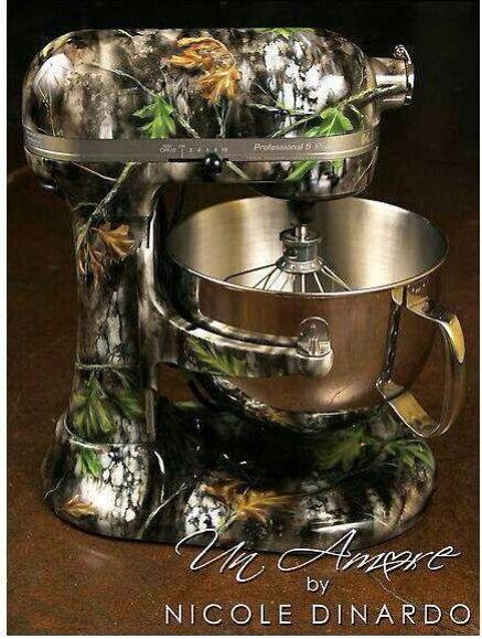 Camo Mixer The Fact That This Exists Is Freaking Awesome Holy Crap Is That A Kitchen Aid Mines Red I Wish I Had Camo