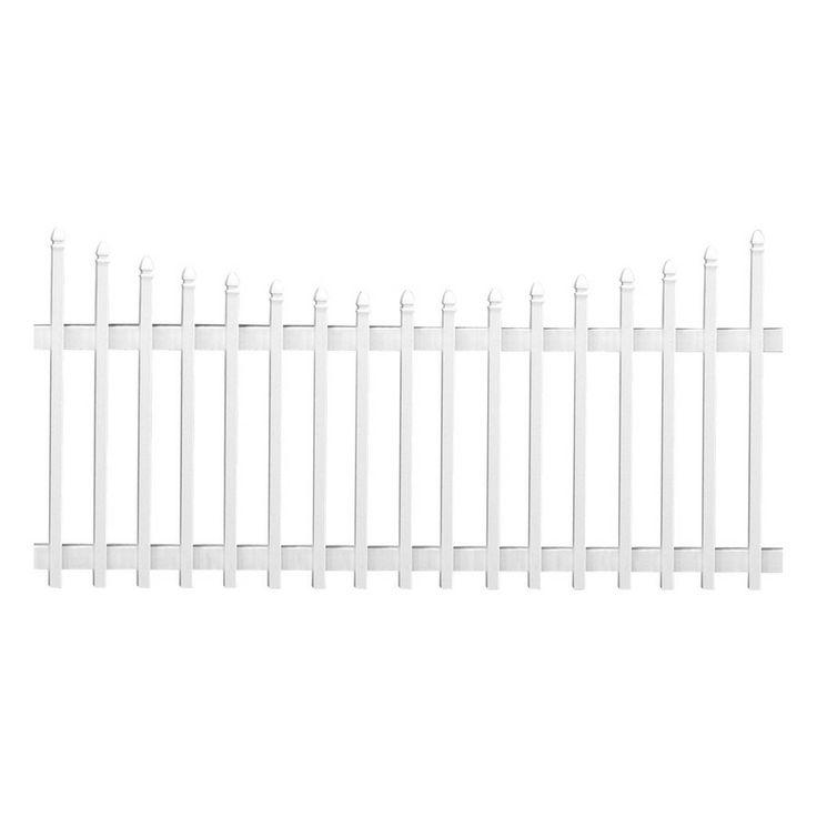 Freedom White Vinyl Fence Panel Common 8 Ft X 4 Ft