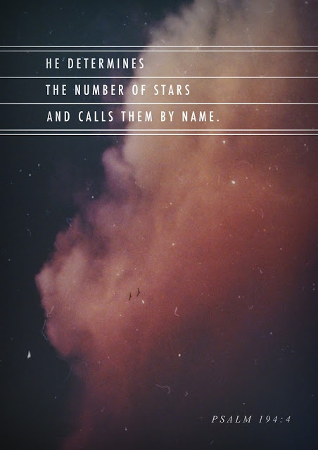 He names the stars. He names them.