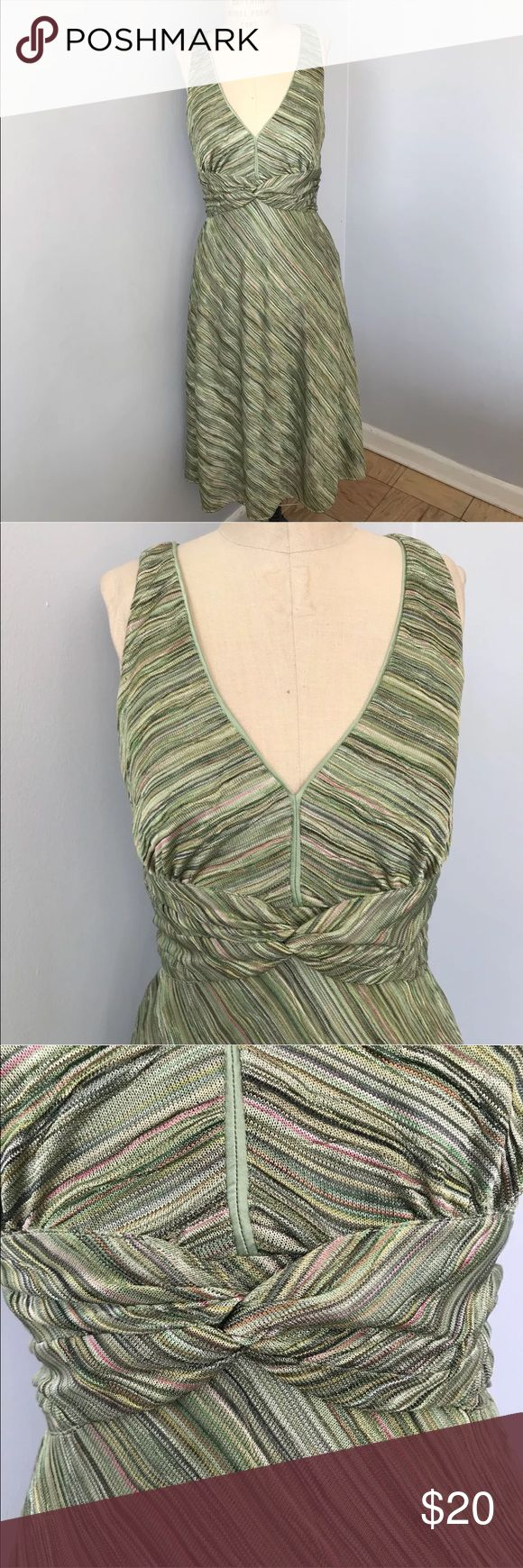 "Kay Unger V-Neck Dress Kay Unger Green Toned V-Neck Princess Bottom Dress  ⭐️Excellent condition with no stains⭐️  DETAILS: Button at neck is missing. You can find a spare one sewn inside (see photo 10)  MEASUREMENTS: 45"" length 38"" bust 32"" waist 40"" hips  ***Please feel free to ask any questions***  💚Thank you for your interest! 💚  (SH073:1224) Kay Unger Dresses"