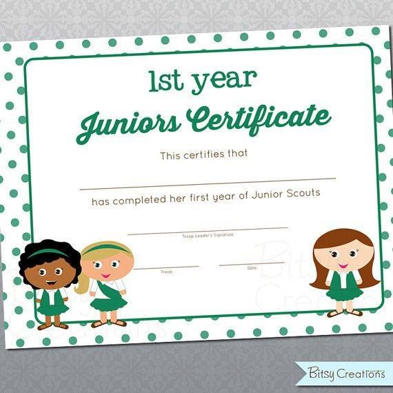 17 best images about girl scout printable certificates on