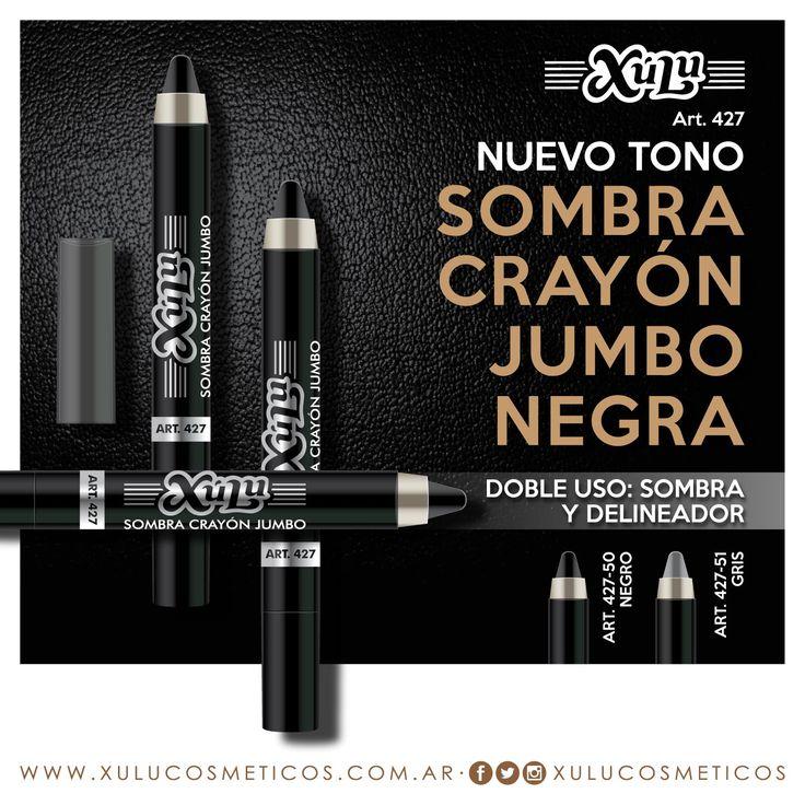 Nuevo tono de sombra crayón jumbo: negro. ¡Usalo también como delineador!