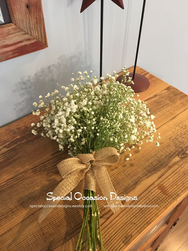 Baby's breath bouquet- mix of overtime and million star