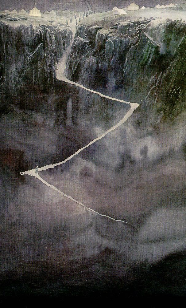 Alan Lee's Lord of the Rings Artwork / not sure what this one is....but I like it.  Thoughts?