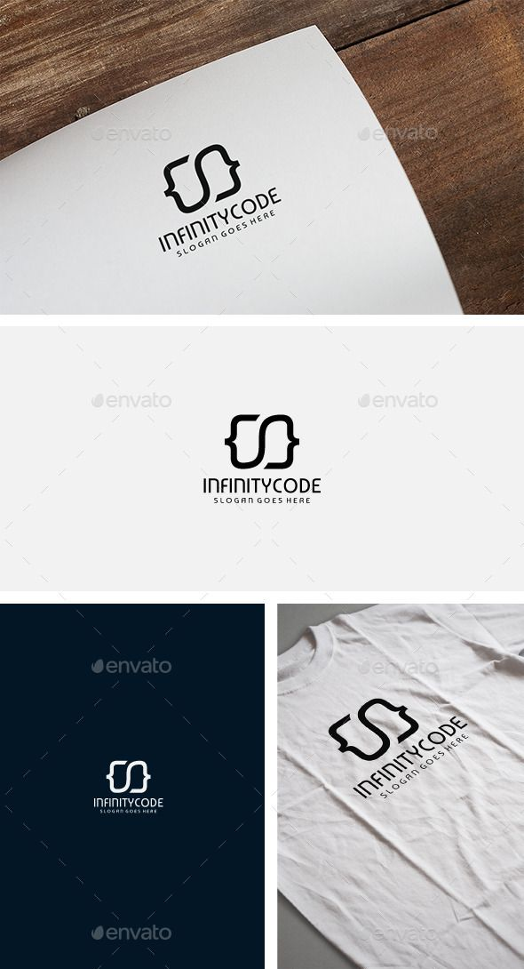 Infinity Code Logo Template Vector EPS, AI. Download here: http://graphicriver.net/item/infinity-code-logo/12332559?ref=ksioks