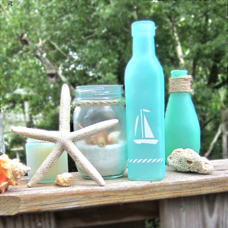 21 best inspiration tim holtz mason jars images on pinterest turning jars into beach glass other modern nautical dcor using martha stewart crafts spray paint system nautical stencils solutioingenieria Image collections