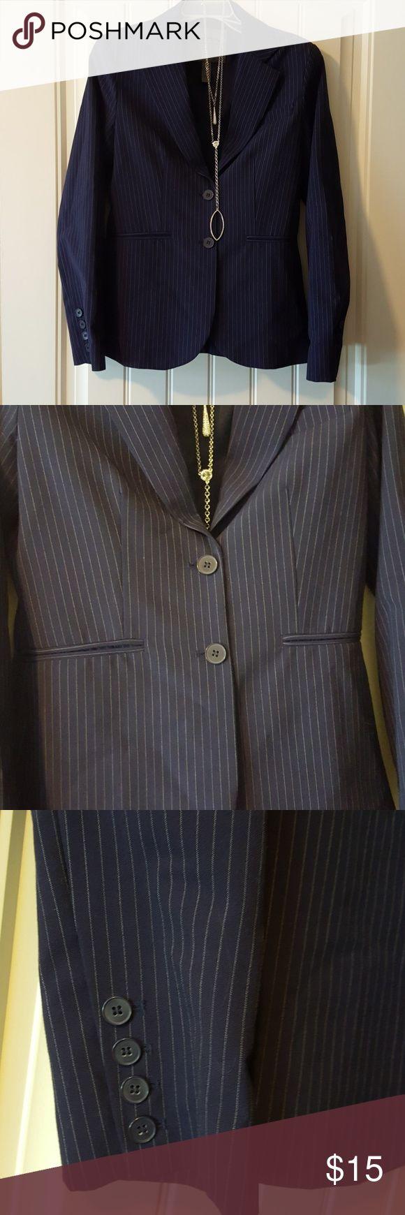 Sarah Jessica Parker suite jacket blazer Blue with small white pinstripes. Bitten by Sarah Jessica Parker Jackets & Coats Blazers
