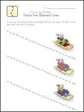free worksheets for tracing lines (getting ready for handwriting)