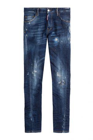 Dsquared2 Dsquared2 Skinny Jeans im Distressed-Look – Blau