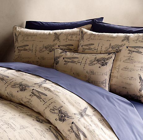 airplane bedding...should get these sheets for guest Air Force-themed room.