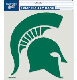Michigan State 8x8 COLOR Die Cut Window Decal by WinCraft. $6.90. Licensed Die Cut decals are made of 3m optically clear cast vinyl, 3 year outdoor rating, permanent adhesive, image cut to the outside dimension of logo, fine detail is screened within the logo. Supplied with a clear liner, clear transfer tape, and application instructions. Measure 8 inch x 8 inch.. Wincraft Sports Color Car Emblems. This is a special order item and takes longer to leave our warehouse, which ...