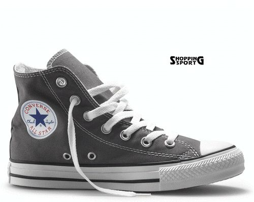 Scarpe Converse All Star 2013 Tela Canvas Grigie Alte Hi High Grigio Grey Scuro  €59.00