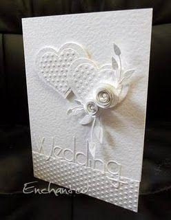 Beautifully elegant wedding card.