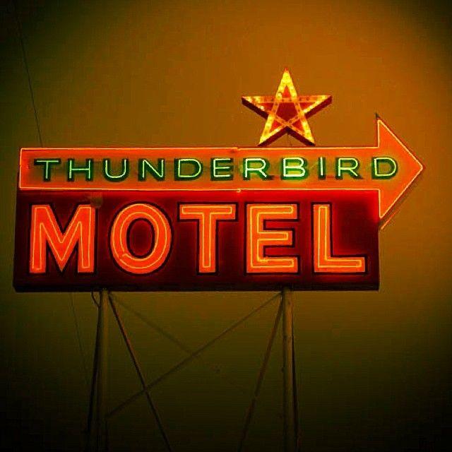 Thunderbird Motel neon sign - Bishop, CA