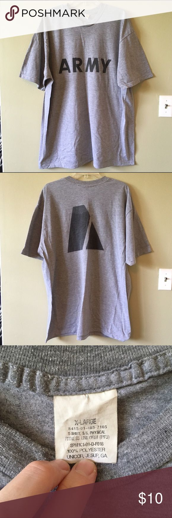 Classic Army Logo Core T-Shirt Heather Grey PT XL Classic Army Logo Core Short Sleeve Tee Shirt, Heather Gray, size XL. Used, good condition. Shirts Tees - Short Sleeve