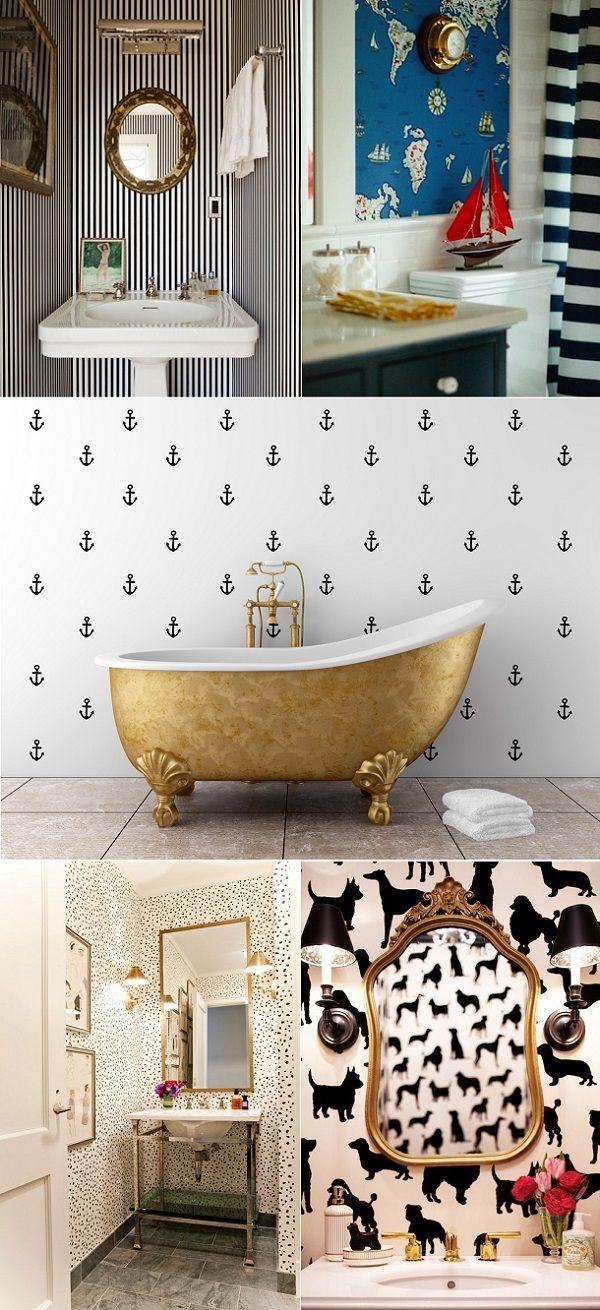 Funky Bathroom Wallpaper 2017 Grasscloth Wallpaper