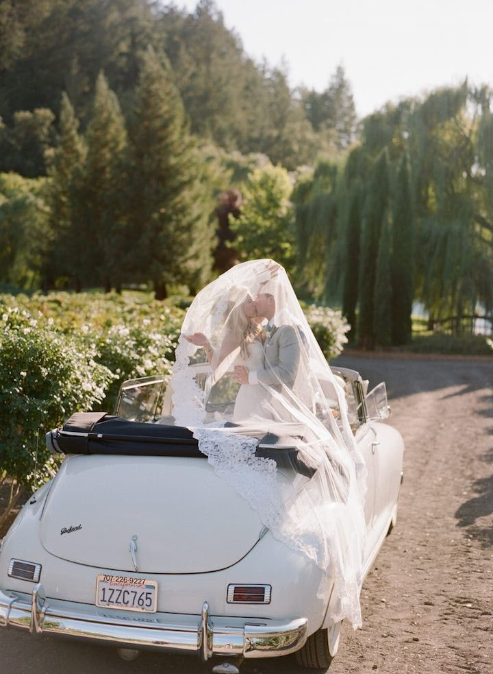 wedding getaway car idea; photo: Sylvie Gil.