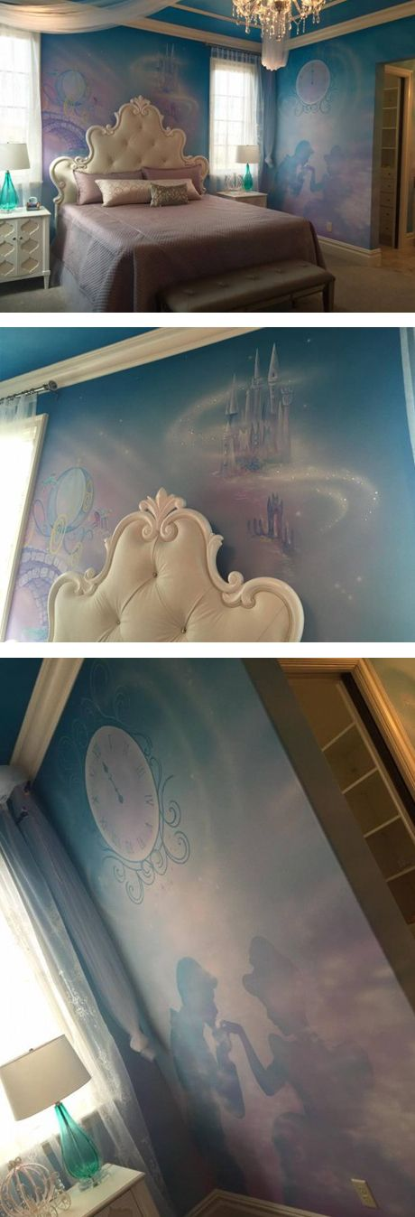 Cinderella-themed bedroom in Disney's Golden Oak community