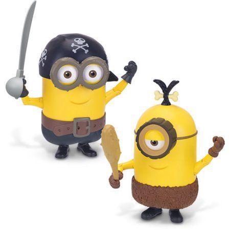 Minions Deluxe Figure Build A Minion Pirate/Cro-Minion, Yellow