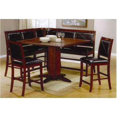 kitchen nook corner dining breakfast set sets 3 piece table bench booth