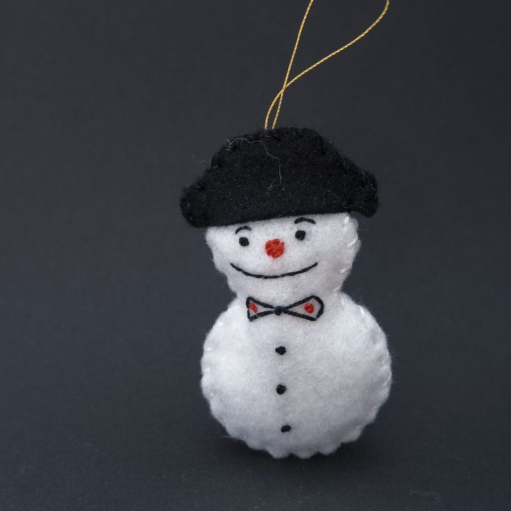 Satisfied snowman - christmas decor, christmas snowman, emotions, snowmen, funny, black hat, bowtie - by HalloweenOrChristmas on Etsy